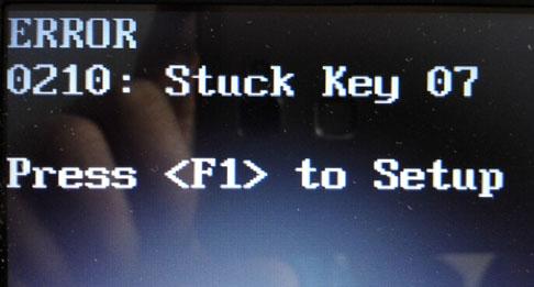 联想thinkpad sl410k开机就提示按f1解决方法
