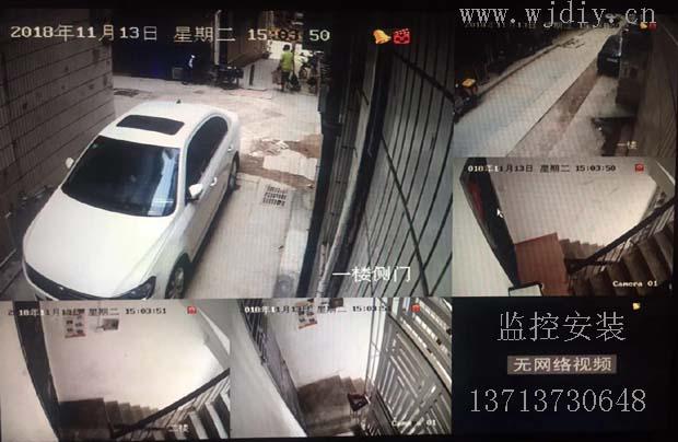 深圳龙华区民治塘水围新村三区6栋监控安装布线.jpg