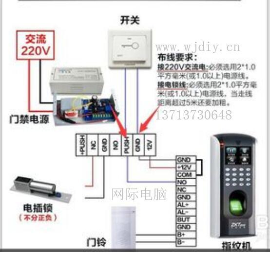 门禁系统_门禁维修_中控门禁安装的接线图解.jpg