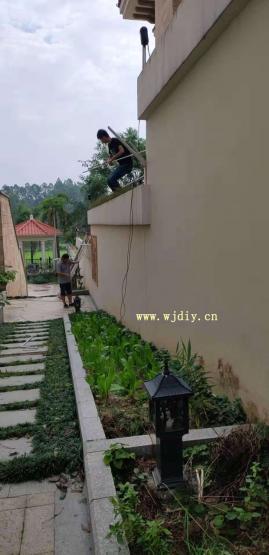 深圳观澜高尔夫球场比佩亚区网络监控布线.jpg