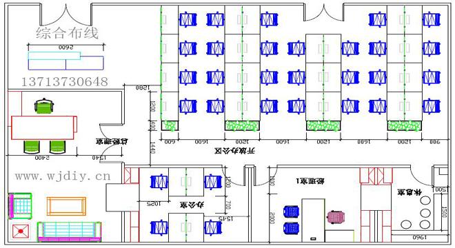 深圳南山赛西科技大厦某公司办公室综合布线工程图.jpg