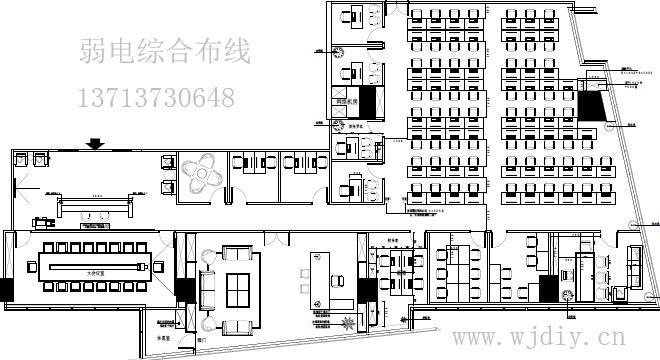 深圳福田区新世界中心大厦办公室布网线 弱电综合布线.jpg