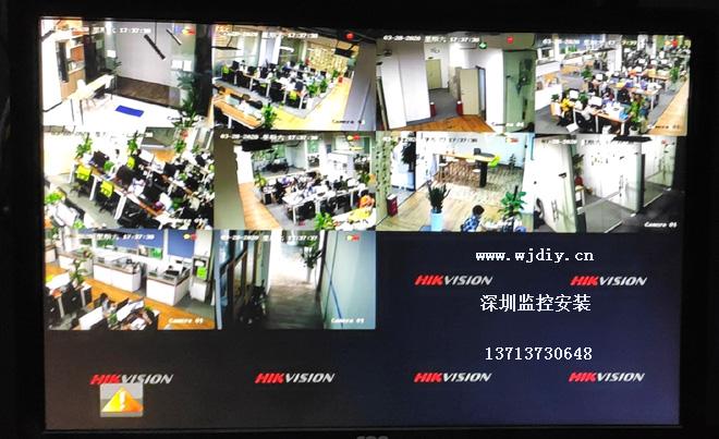深圳龙华区民乐科技园电商公司办公室安装监控摄像头.jpg