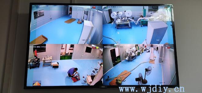 深圳市松岗华宇智能无尘车间监控安装2.8mm半球摄像头.jpg