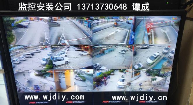 维也纳国际酒店(深圳福城观悦店)外围车场安装监控装摄像头