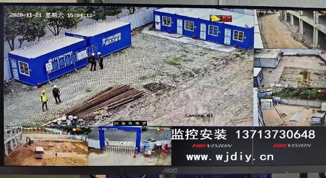 深圳光明区温泉酒店项目改造工地临时网络监控安装