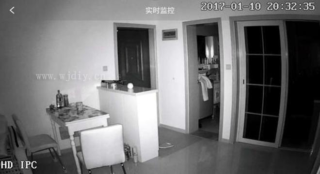 什么是红外线监控器摄像头 红外线监控器晚上效果.jpg