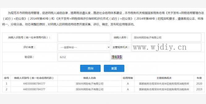 深圳市网际电子有限公司2019/2020评为A级纳税人.jpg